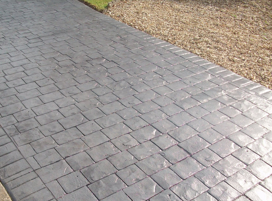 Imprinted concrete driveway Birmingham from Paving Birmingham uk